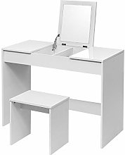WOLTU Dressing Table Cosmetic Table White with