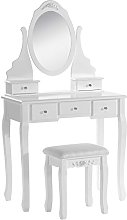 WOLTU Dressing Table,Makeup Furniture with MIRROR