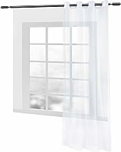 WOLTU Eyelet Ring Top Sheer Voile Curtain