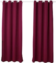 WOLTU® Pair of Curtains Eyelet Blackout Curtains