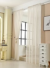 WOLTU® Pair of Slot Top Sheer Voile Curtains