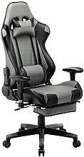WOLTU Racing Chair Gaming Chair Black+Grey Swivel