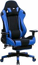 WOLTU Racing Chair Gaming Chair Blue+Black Swivel