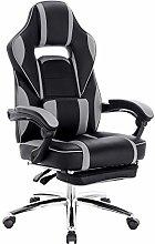 WOLTU Racing Chair Gaming Chair Grey Swivel