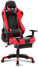 WOLTU Racing Chair Gaming Chair Red+Black Swivel