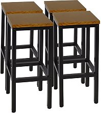 WOLTU Set of 4 Bar Chairs Desk Chairs with Steel