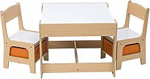 WOLTU Table with 2 Chairs Wooden Kids'
