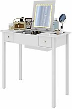 WOLTU White Dressing Table with LED Mirror Makeup
