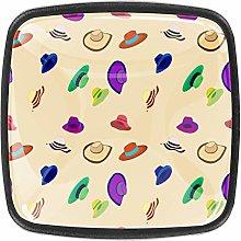 Woman Hats Pattern Kitchen Cabinet Knobs Drawer