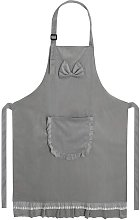 Women's 2-Layer Cotton Cooking Apron with