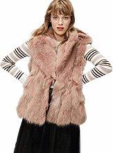 Women's Fur Vest,Sleeveless Vest,Vest Warm