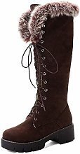 Women's Knee High Boots Suede Short Plush Warm