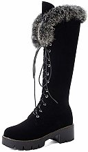 Women's Knee High Boots Warm Short Plush Suede