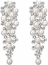Women's Wedding Bridal Crystal Simulated Pearl