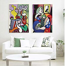 Women Abstract Canvas Art Print Painting Poster