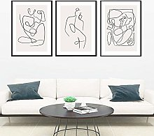 Women Body Art Posters Nordic Canvas Painting Cool