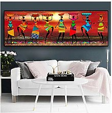 Women Dancing Print Colored Home Decor African