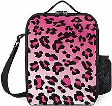 Women Kids Lunch Bag Cool Animal Leopard Print