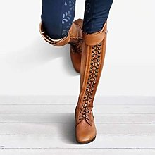 Womens Equestrian Shoes Knight Riding Boot Round