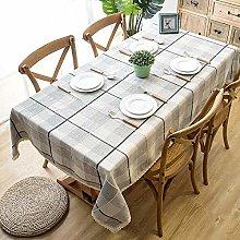 Wondder Cotton Linen Gradient Gray Grid Table