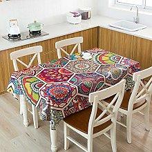 Wondder Cotton Linen Table Cloth Tassel Lace for