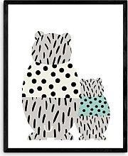 Wonder & Rah - 'Bear' Framed Print, 52 x