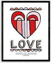 Wonder & Rah - 'Love' Framed Print, 52 x