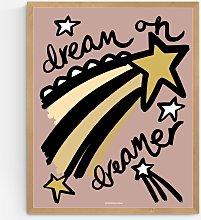 Wonder & Rah - Dream On Dreamer Wood Framed Print,