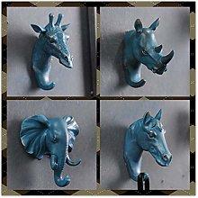 WonderfulDay 4PCS/SET Rhino Elephant Giraffe Horse