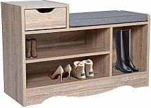 Wonderhome Wooden Shoe Bench Shoe Storage Rack