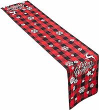 wongbey Christmas Table Linen, Table runner Check