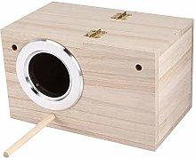 Wood Breeding Nest,Wooden Bird Nest Box Bird Cages