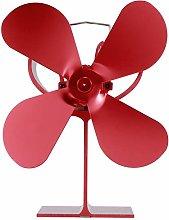 Wood Burner, 4 Blade Stove Fan Heat Powered Fan,