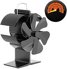 Wood Burner Fans 6 Blade Stove Fan Thermometer