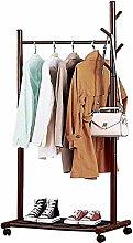 Wood Coat Rack Storage Rack Clothes Rod 67x45x170