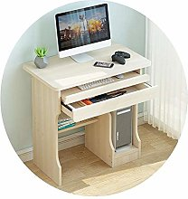 Wood Computer Desk with Drawer Simple Writing Desk