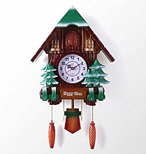 Wood Cuckoo Clock Traditional Chalet Style Wall