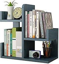 Wood Desktop Bookshelf, Office Storage Desk