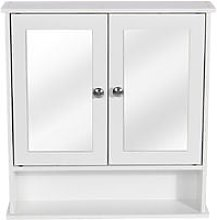 Wood & Double Wall Cabinet Medicine Cabinet With
