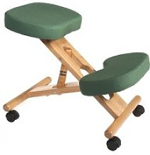 Wood Framed Kneeling Chair, Green