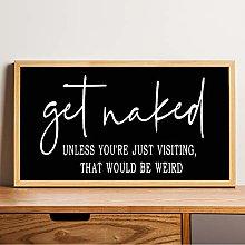 Wood Framed Sign funny bathroom sign Bible Verse