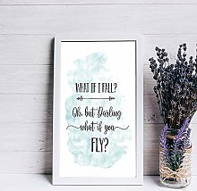 Wood Framed Sign What If I Fall Nursery Print sign