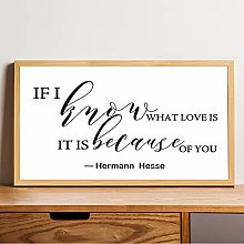 Wood Framed Signs Hermann Hesse Quote Print sign