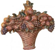 WOOD FRUIT BASKET POLYCHROME FINISH MADE IN ITALY