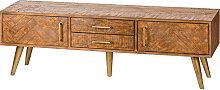 Wood & Gold TV/Media Cabinet