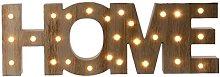 Wood LED light up HOME sign