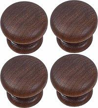 Wood Pull Knobs, 4pcs Drawer Pulls Cabinet