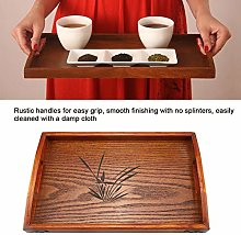 Wood Serving Tea Water Drinks Tray Wooden