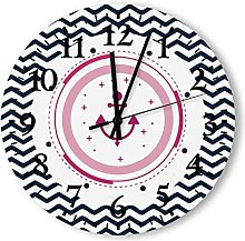 Wood Shiplap Wall Clock with Big Numbers,Farmhouse