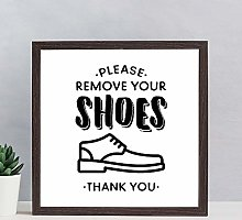 Wood sign Please Remove Your Shoes Printable Sign